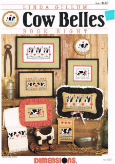 Cow Belles Cross Stitch Patterns Book 8 Linda Gillum