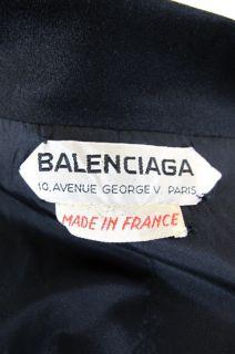 Balenciaga at Socialite Auctions Vintage Black Silk Skirt Suit