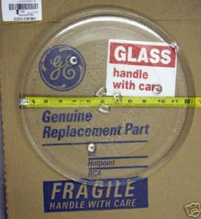Genuine GE Microwave Turntable Cooking Glass Dish Tray Plate