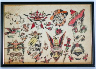 Vintage Tattoo Flash Antique Folk Art