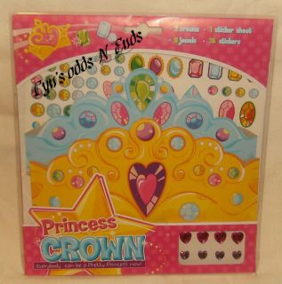 make your own princess crown craft kit party favors