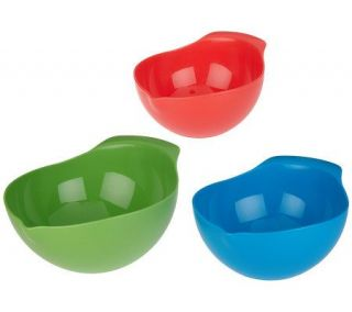 Preserve Set of 3 Recycled Plastic Mixing Bowls —
