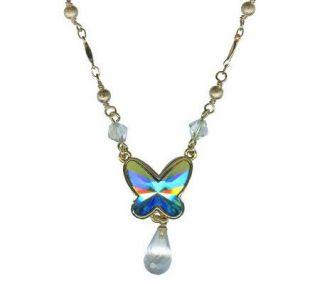 Kirks Folly Brilliant Butterfly Necklace —