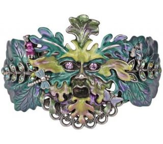 Kirks Folly Enchanted Green Man Fairy Bangle Bracelet —