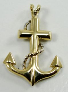 1350674798_14K Yellow Gold Pendant Cross Anchor Nautical Rope Designer