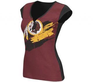 NFL Washington Redskins Face Paint Split NeckT Shirt —