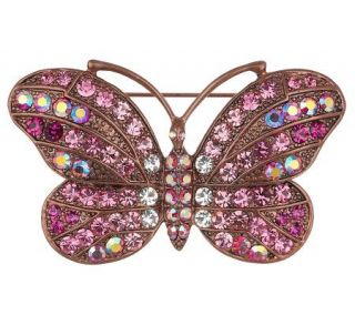 Kirks Folly Butterfly Rainbow Eternity Pin —
