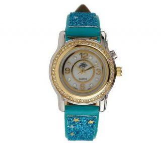Kirks Folly Petite Star Dust Light Up Glitter Watch —