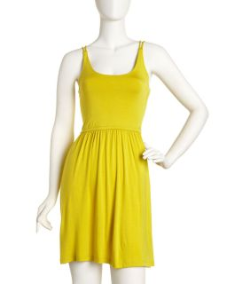 Casual Couture Double Strap Jersey Dress Green Tea