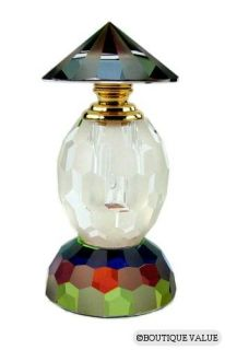 Austrian Crystal 24 KT Gold Plated Perfume Bottle T NIB