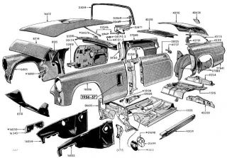 1959 ford thunderbird trunk diagram 57 63 ford horn relay galaxie thunderbird f100 f250 f350 ...