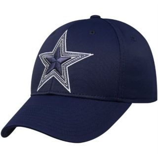 Dallas Cowboys Hat Cap Small / Medium Navy Blue STAR LOGO Flex Fit NFL