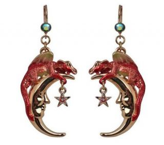 Kirks Folly Choice of Dragon Dreams Moon LeverBack Earrings —