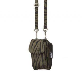 baggallini Crinkle Nylon Flip Phone Case   Zebra —