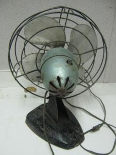 Art Deco Polar Cub Desk Fan Catalog A530 Does Run AC Gilbert Co