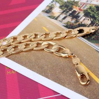 Cuban Bracelet 24K Gold Filled Unisex Women Men Cuban Chain Bracelet