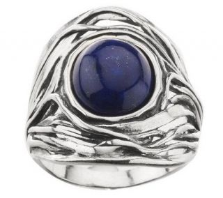 Or Paz Sculpted Sterling Oval Gemstone Ring —
