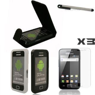 7EN1 Funda Cuero Silicona Para Samsung Galaxy Ace S5830