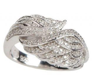 AffinityDiamond 1/7 ct tw Angel Wing Ring, Sterling   J157258