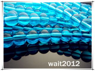 Free 100PCS Blue lake crystal Jewelry making round glass Loose beads