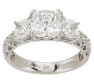Tacori IV Diamonique Epiphany Bloom Cut 3 Stone Ring —