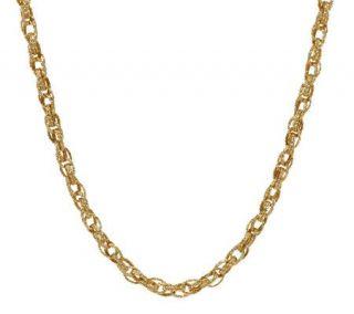 EternaGold 20 Bold Textured Oval Link Necklace 14K Gold, 12.8g