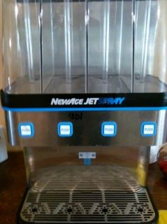 Jet Spray Quad bank Commercial Refrigerated Cold Beverage Drink