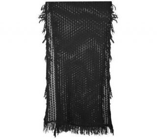Suss Nature Knits Lace Crochet Cotton 70 x 20 Wrap —
