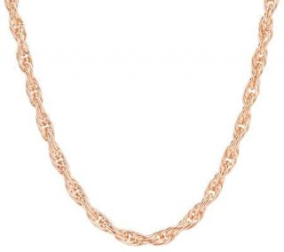 Bronzo Italia 18 Twisted Woven Rope Necklace   J276096