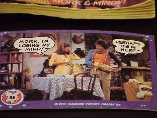 Vintgage Mork and Mindy Trading Cards and Puzzle Book