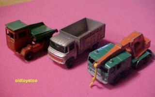 Matchbox Crane Scaffold Dump Trucks 1960s