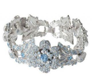 Isaac Mizrahi Live Pave Crystal Flower Bracelet   J155283