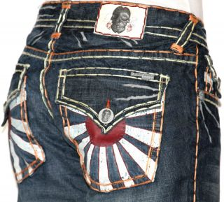 Mens Laguna Beach Jeans Corona Del Mar Boot Cut Orange Stitch 34