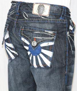 New Mens Laguna Beach Jeans Corona Del Mar Blue Stitch Boot Cut 32