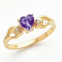 New 14k Gold Heart 02Ct vs Diamond Gemstone Ring Sizes 4 9 Pick Your