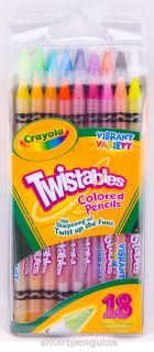 Crayola Twistables Colored Pencils Set 18 Colors No Sharpening Non