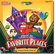 Crayola Magic 3D Kids Software Coloring Game CD PC New