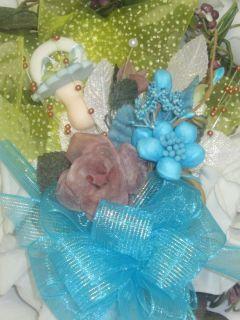 Baby Shower Boy Corsage Handmade Original Mom to Be or Grandma Corsage