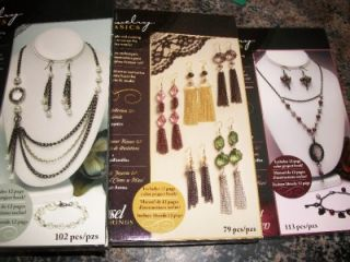New Lot 3 Cousin Jewelry Basics Necklace Bracelet Earrings Set Kits