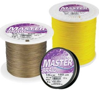Cortland Masterbraid SPECTRA Braid Fishing Line 600 yds White 80 lb 50