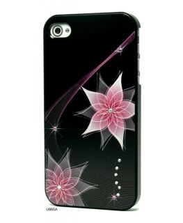 3D Relief Bling Rhinestones Hard Cover Case for iPhone 4 U865A