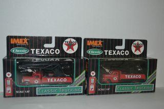 2 Imex Texaco Crane Trucks HO