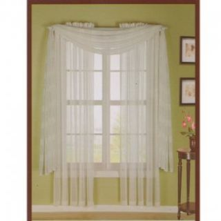 HLC.ME   4 PCS. of White Stripe Sheer Curtains Window Treatment Panel