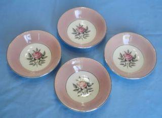 Vtg 1950s Cunningham Pickett Norway Rose Fruit Bowls