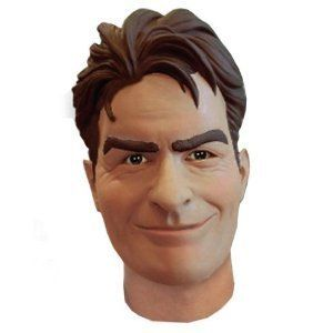 Official Charlie Sheen Halloween Face Mask New Costume