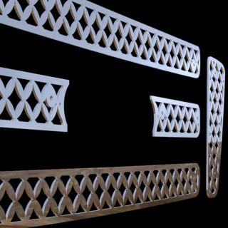 08 chrome mesh grille insert stainless steel trim cover custom grille