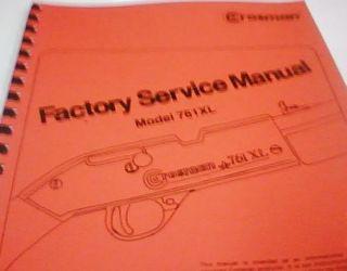 Crosman Model 761XL Rifle Factory Service Gun Manual Repair Crosman