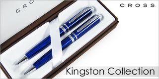 Cross AT0441B 3 Kingston Blue Pen & Pencil Set (BNIB)   One set price