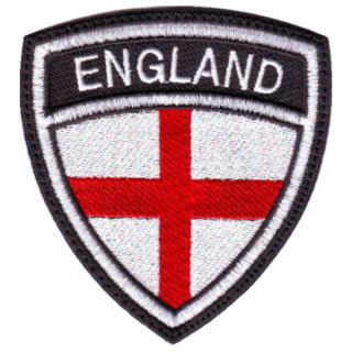 ENGLAND ST. GEORGE CREST BADGE FLAG EMBROIDERED SEW ON PATCH