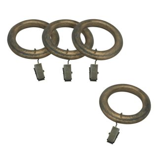 Allen Roth 7 Pack Vintage Gold Wood Curtain Rings
